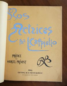 Leonetto Cappiello - originele 'first edition' hardcover portfolio 'Nos Actrices'