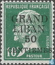 French stamps with overprint