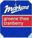 Markant Groene thee Cranberry / Fairtrade Max Havelaar