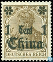 Germania inscription Deutsches Reich surchargé
