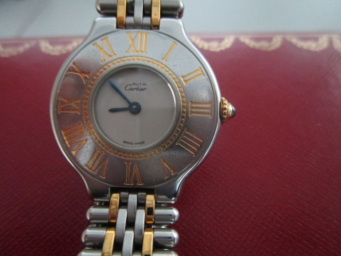 555d1baea5ff Cartier 21 Must de Cartier - ladies wristwatch - 1980s - Catawiki