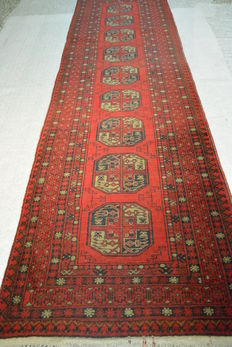 Top seller: Oriental carpet, Afghan 300 x 86cm End of the 20th century
