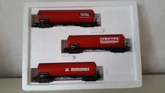 Märklin H0 - 4519 - Three part tanker wagon set