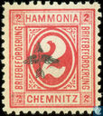 Briefbezorging Hammonia - Digit, with overprint arrow