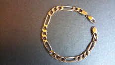 18 kt Solid gold bracelet in mint condition - 21 cm