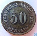 Empire allemand 50 pfennig 1875 (J)