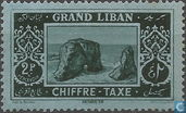 Postage stamps with inscription Chiffre Taxe