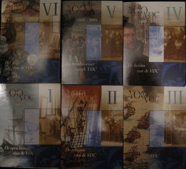 "The Netherlands - Promotional packs 2002/2003 ""V.O.C. I to VI"" (6 different)"