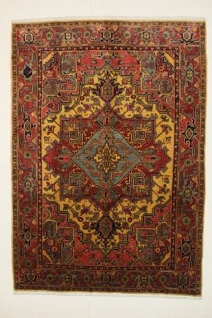 Very beautiful HERIZ rug, Bakhshayesh, north-west Iran, 20th century, signed Gholizadeh.