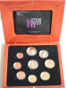 "The Netherlands, year pack (Proof) 2011, including 2 Euro coin ""Erasmus""."
