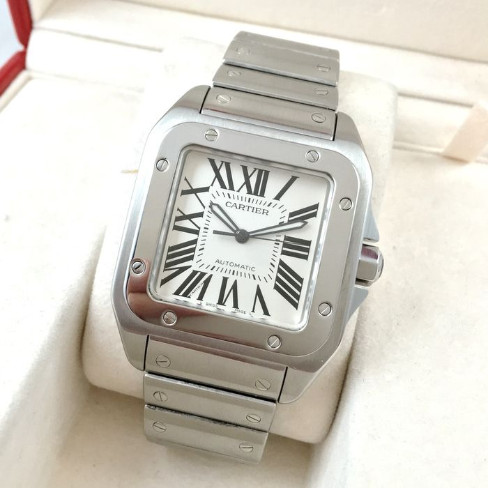 Cartier Santos 100 Xl >> Cartier Santos 100 Xl Ref 2656 Men S Watch Catawiki
