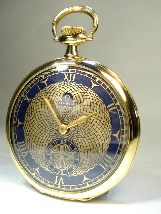 omega vintage swiss solid gold pocket watch 18k gold. Black Bedroom Furniture Sets. Home Design Ideas