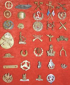 Collection of 35 British W.O.I Military  Proficiency, Trade & Qualifiction Badges