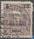 King Carlos 1, with overprint
