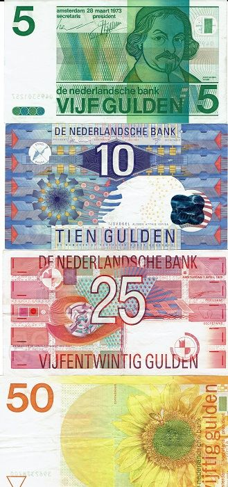 the netherlands - banknote of 5, 10, 25 and 50 guilder - catawiki