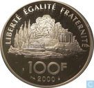 "Frankrijk 100 francs 2000 (PROOF) ""Jean-Jacques Rousseau"""