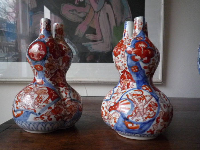 Set Double Gourd Vases Japan Second Half 19th Century Catawiki