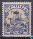 German Togo stamp overloaded