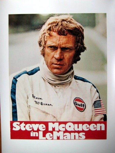 poster affiche the 24 hours of le mans steve mcqueen. Black Bedroom Furniture Sets. Home Design Ideas