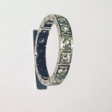 American alliance ring in Gold 18Kt and Diamonds with Gemological Certificate