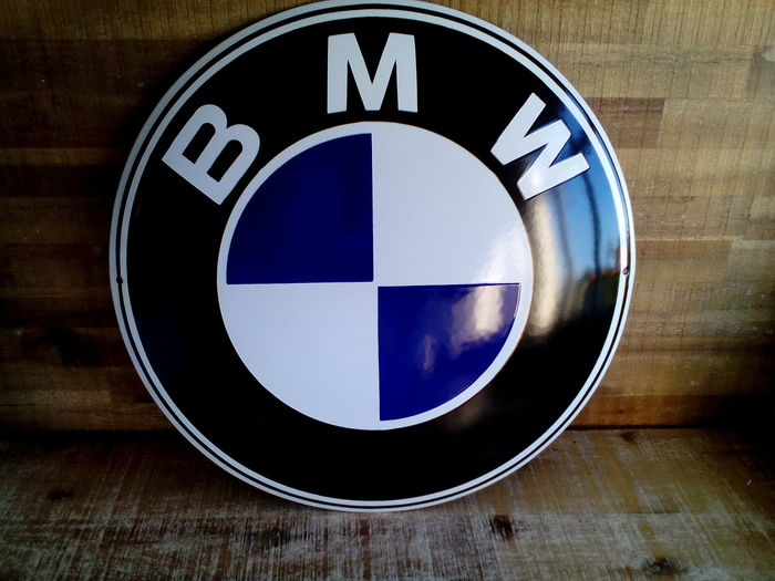 Emaille - BMW -  groot garage/reclamebord.