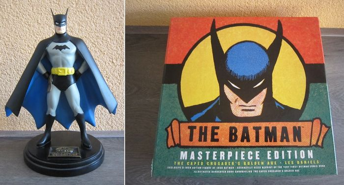 Batman golden age statue and The Batman Masterpiece edition box (2000)