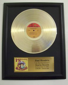 Jimi Hendrix - Experience- Golden record LP with goldplated plaque