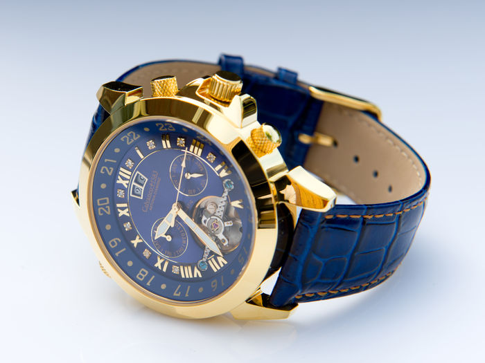 Calvaneo 1583 Luxury Blue Gold -- Men's Wristwatch