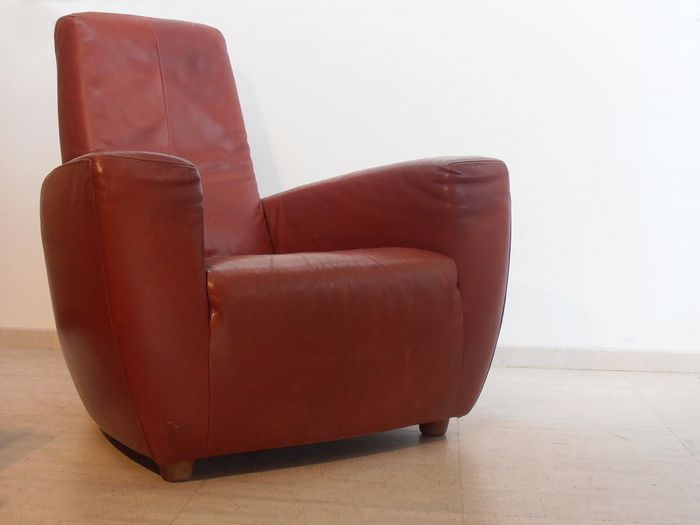Gerard Van De Berg Stoel.Gerard Van Den Berg For Label Leather Armchair Type Longa Catawiki