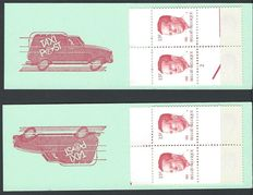 Belgium 1963/1986 – stamp booklets King Boudewijn and Albert and Paola – OBP B1/18, 18V-1 and 1267A/67B.