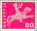 Postage Stamps - Switzerland [CHE] - Post Rider