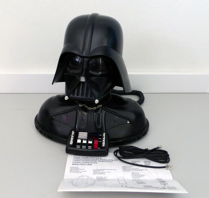 star wars telemania vintage darth vader telephone. Black Bedroom Furniture Sets. Home Design Ideas