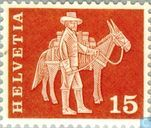 Postage Stamps - Switzerland [CHE] - Convoyeur with Mule