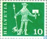 Postage Stamps - Switzerland [CHE] - Messenger from Schwyz