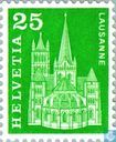 Postage Stamps - Switzerland [CHE] - Cathedral of Notre Dame