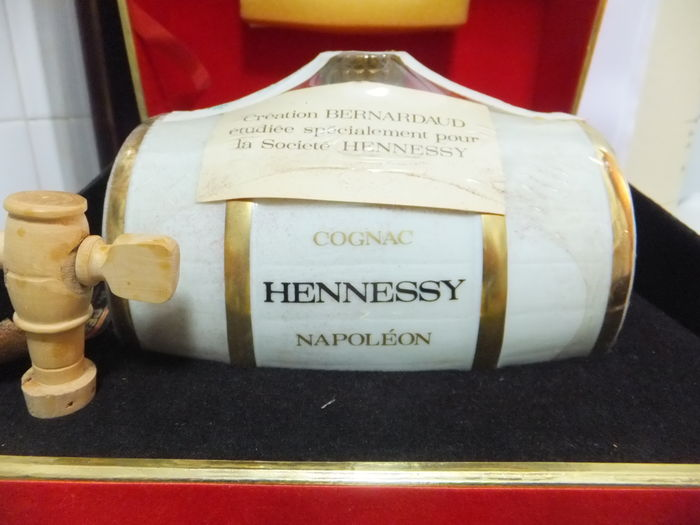 Hennessy Napoleon Cognac - Limoges Porcelain Barrel - Bottled 1980s