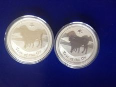 Australië - Dollar 2009 'Year of The Ox-Lunar II' (2 stuks) zilver