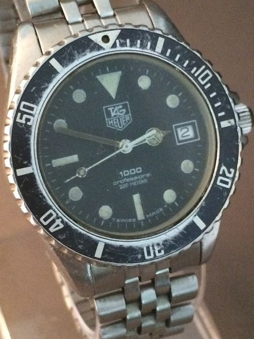 Tag heuer 1000 professional diving men 39 s watch 1990s catawiki for Tag heuer divers watch