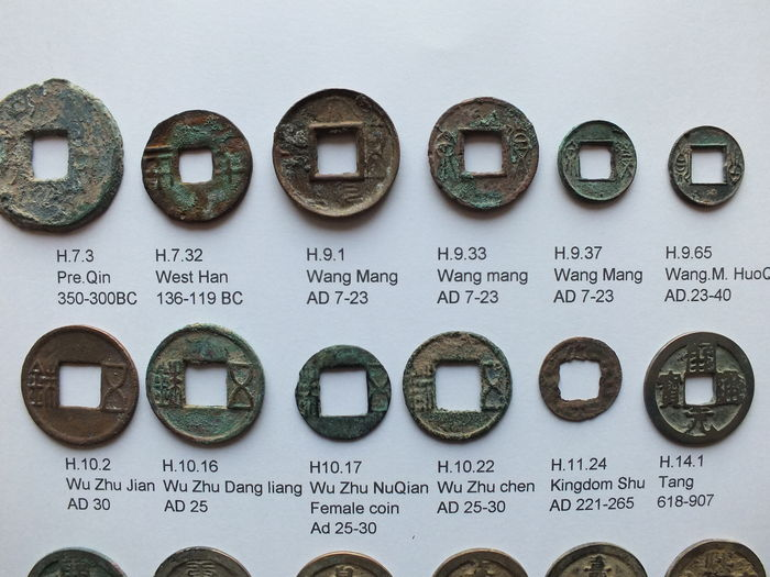 Antique East - China. 30 antique AE coins from 12 varied dynasties (approx. 350 BC. to AD 1689)