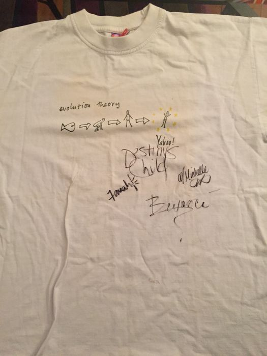 Beyonce and Destiny Child Autographed T-Shirt - Rare item ...