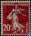 Sower, with bilingual overprint