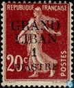 Sower, with overprint