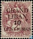 Allegorical Representation (Type Blanc), with overprint