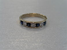 0.40ct / 0.30ct Sapphire and Diamond Eternity Ring