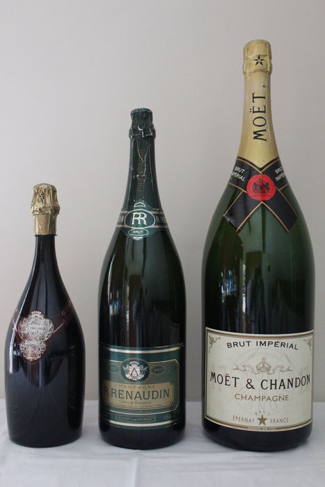 3 Large Display Champagne Bottles Catawiki