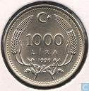 "Turkije 1000 lira 1990 ""Environmental protection"""