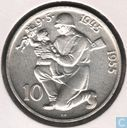 "Czechoslovakia 10 korun 1955 ""10 years - Liberation of Germany"""
