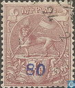 Lion with overprint