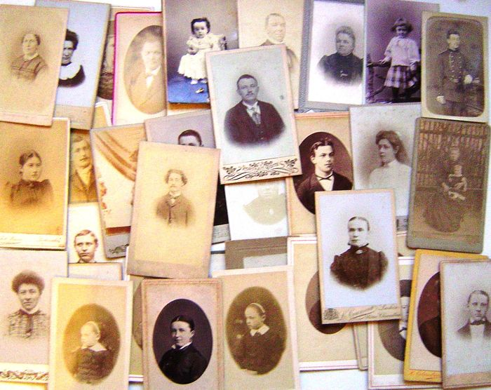 Collection Of 80 CARTES DE VISITE CDV From 1880 To 1910
