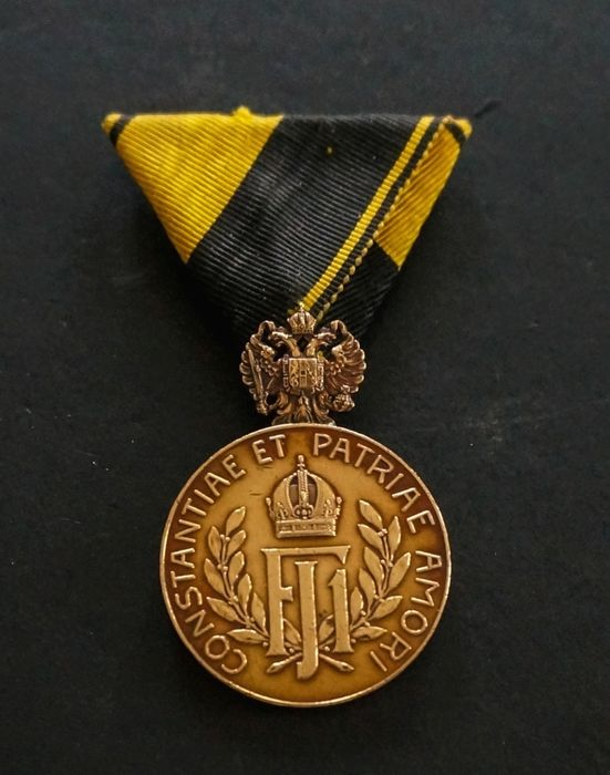Austria - Octo Lustra-Medal for 40 Years of Service Rendered in a Landsturmduty Union